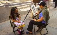 A Chinese street artist