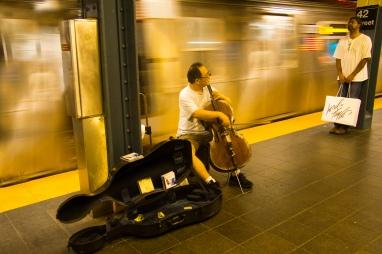 NYC subway cellist