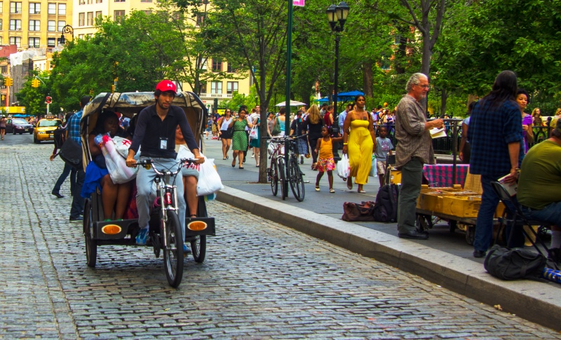 Cycle-rickshaw in Manhattan