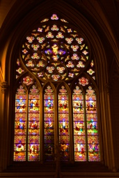 St Patricks stain glass window
