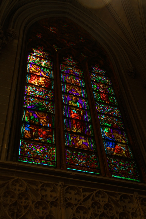 St Patricks Cathedral stain-glass window
