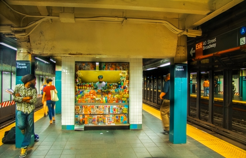 Subway candy store
