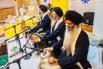 3 Sikh men putting on a fabulous show