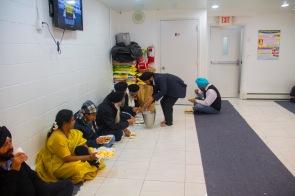 Langar-Serving and sharing food