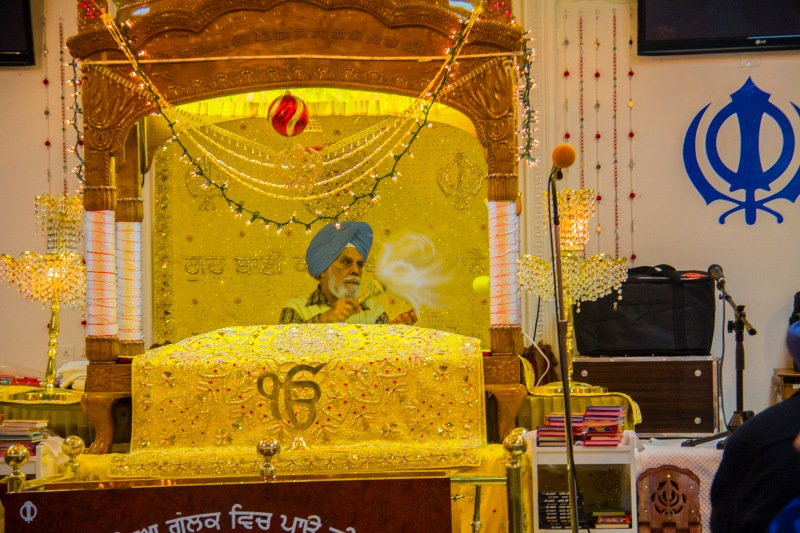 This is where the the Sikh Scriptures are placed.