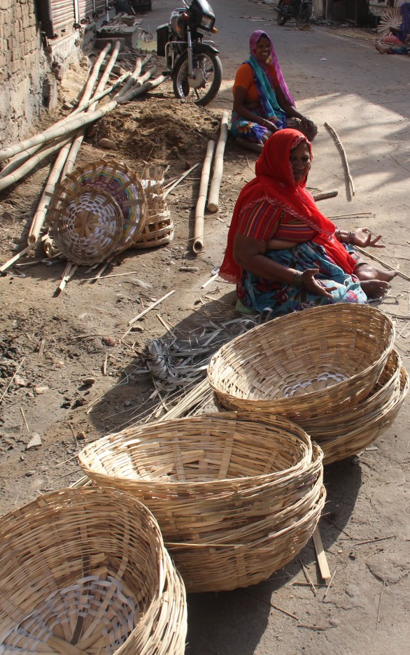 Woman basket weavers