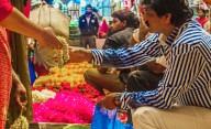 Man selling flowers