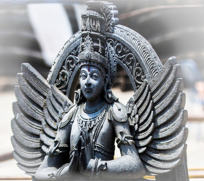Stone carving of an Angel