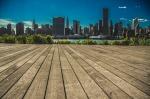Manhattan Skyline boardwalk