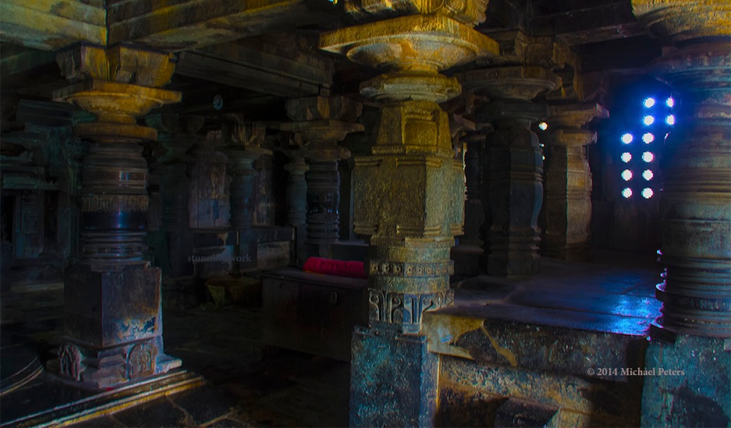 Relic-Inside Belur temple