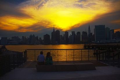 Sunset Manhattan Skyline