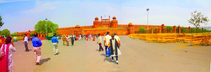 Red Fort front Panorama