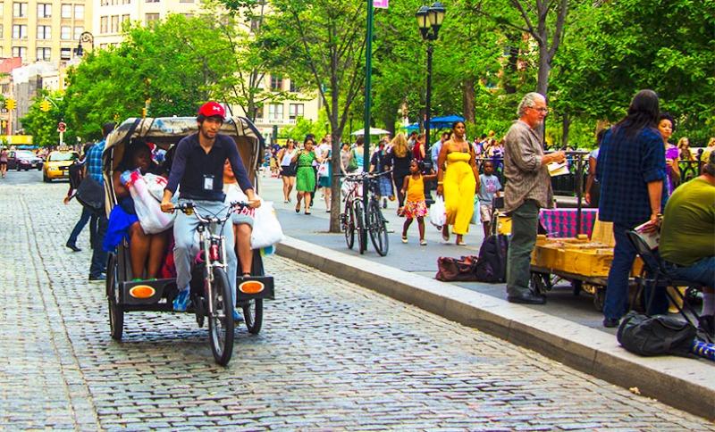 Rickshaw man in Manhattan