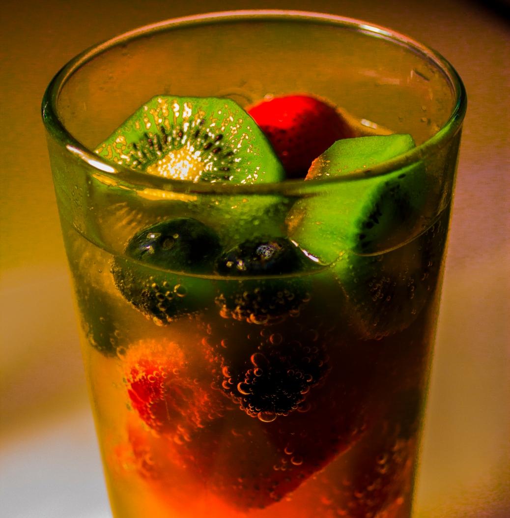 Fresh fruits in onange soda copy