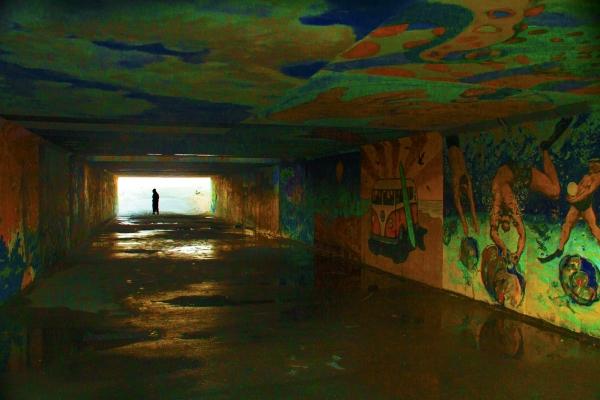 Gilco beach tunnel