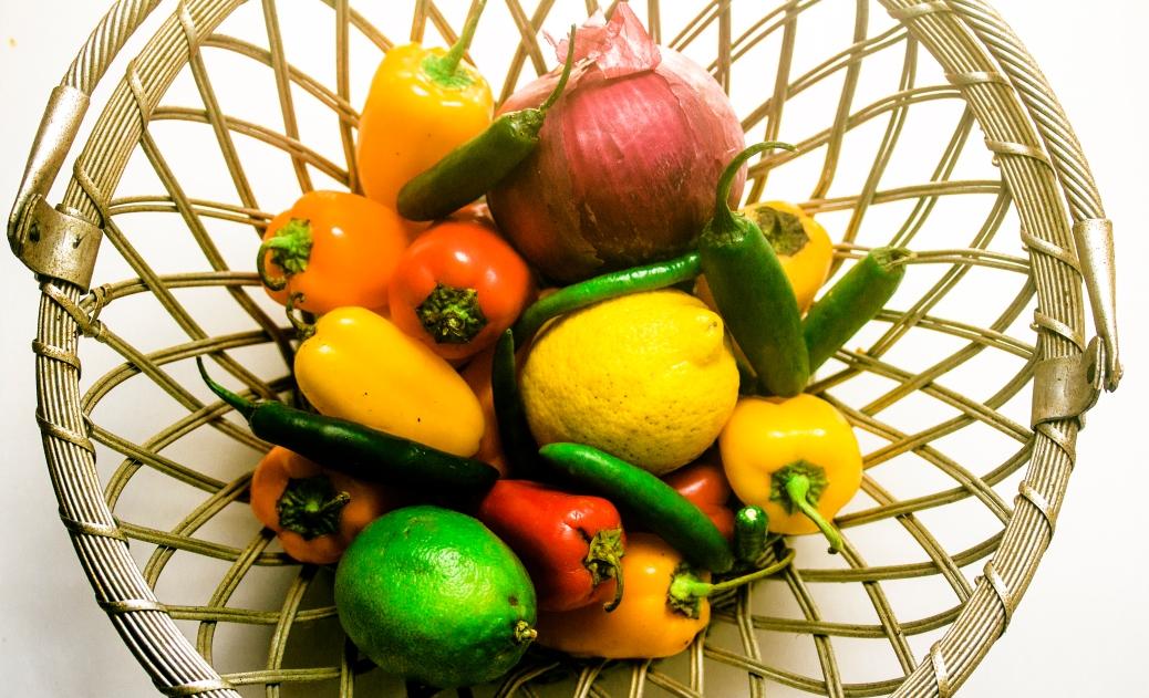 Peppers, Lemon,Lime & Onion