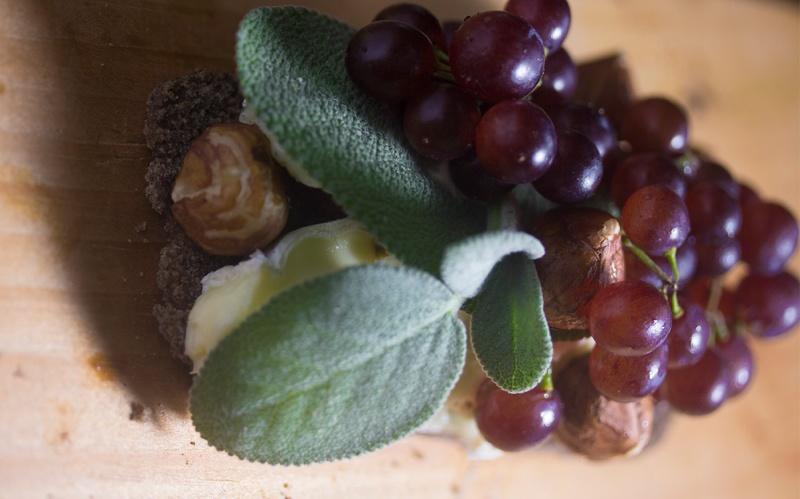 Brie, Grapes Sage, Hazel nuts & Honey