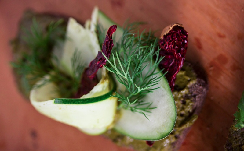 Mint chutney, Dill,Cucumber and Sun-dry Red Peppers