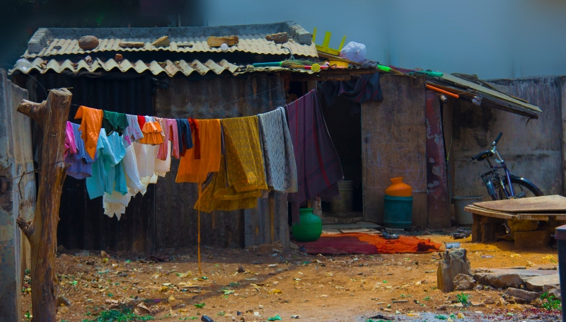 A humble coolies home in Bangalore, India