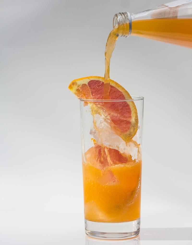 Orange soda with ice