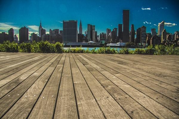 Boardwalk skyline
