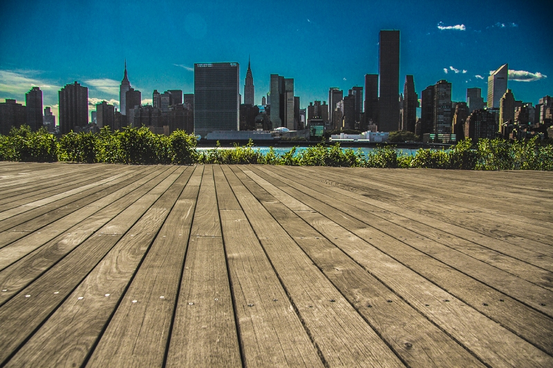 Boardwalk skyline