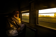 Bhiri man on the train