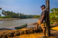 My friend Prakash off the Goan back waters