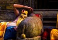 Sadu at the Pashupatinath Temple in Katmandu, Nepal