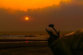 Sunset Goa beach, India