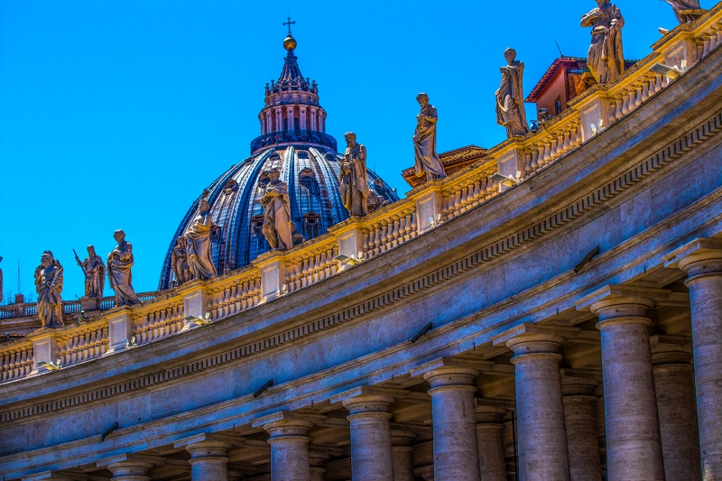 Vatican City-The Dome of St. Peters Basilica